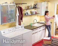 Convert an Unfinished Laundry Area Into a Laundry Room Make your laundry room more attractive and functional by reworking the plumbing and adding a new sink and countertop. Laundry Box, Laundry Area, Laundry Rooms, Laundry Room Remodel, Basement Laundry, Basement Bathroom, Bathroom Plumbing, Pex Plumbing, Bathroom Cleaning