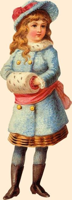 Victorian Muffs | Victorian girl with muff