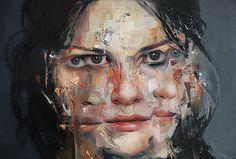 "Caroline Westerhout |(Detail) ""Elastic"" | Oil on canvas | 100 x 40 cm | Galeria de Arte AFK, Lisboa"
