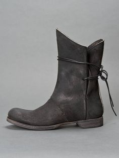 Lost & Found Lace Back Leather Boots by Antonioli