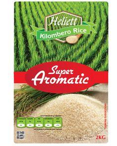 Heliett Kilombero rice package design