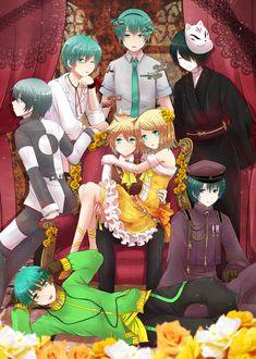 Kagamine Rin and Len and Mikuo ( ? Kaito, Hatsune Miku, Len Y Rin, Kagamine Rin And Len, Ran And Shinichi, Kaai Yuki, Vocaloid Cosplay, Mikuo, Otaku