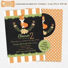 Woodland  kids birthday invitation  by MyPrintableMiracles on Etsy
