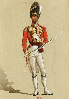 english grenadier guard, 1810