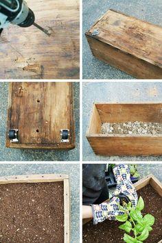 DIY herb planter indoor outdoor - Google Search