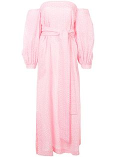 $278.0. LISA MARIE FERNANDEZ Cotton Lisa Marie Fernandez Pattern Detailed Maxi Dress - Pink #lisamariefernandez #cotton #clothing Suits For Women, Clothes For Women, Beach Skirt, Work Fashion, Fashion Design, Lisa Marie Fernandez, Floral Crop Tops, Floral Jumpsuit, Office Outfits