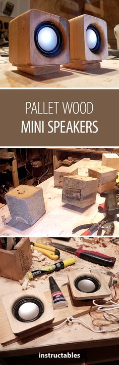 Upgrade your speakers with wooden enclosures #woodworking #pallet #reuse