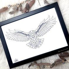 Customized tattoo sketch graphic eagle / grafische Adler Zeichnung
