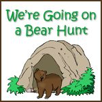We're going on a bear hunt Printable Worksheets to go along with book, also a link to Michael Rosen performing story.