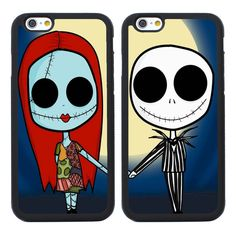 The Nightmare Before Christmas BFF Couple Cases for iPhone 4S 5S SE 5C 6 6S Plus…