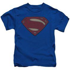 Batman vs Superman Movie Logo Juvenile's Tee - Royal Blue