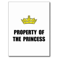 Property Of Princess Postcard