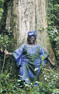 Wangari Maathai  (1940-2011) a Kenyan environmental and political activist. In the 1970s, she founded the Green Belt Movement a non-governmental
