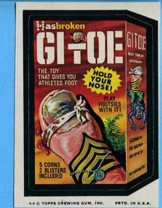 Wacky GI Toe sticker from Topps Chewing Gum