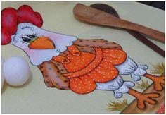 Pintura em tecido - A Galinha Fifi esta pronta!!!! parte 3 final                                                                                                                                                                                 Mais
