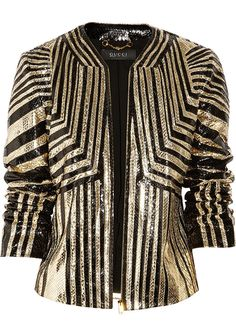 Gucci Striped Python jacket- 1st up on our lottery purchases