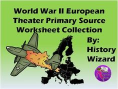 This activity includes six primary source documents related to the European Theater during World War II.  Five of six worksheets use primary source readings from the great Eye Witness to History Website.  http://www.eyewitnesstohistory.com/index.html  Students read the documents and answer the questions.
