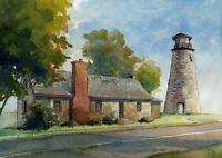 Cape Elizabeth Maine Misty Day James Mann Art Prints Portland Head Lighthouse