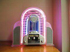 Vintage Cicena Marilyn Neon Radio, Art Deco Design AM/FM stereo Radio, Flashing Neon Radio