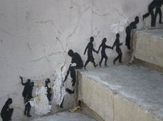 Street art is one of the most important art movements in history. This little bit is simple but I really like it.