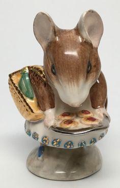"Gold Basket Beswick Beatrix Potter's "" Appley Dapply "" Figurine | eBay"