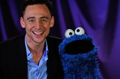 Tom Hiddleston teaches Cookie Monster self control.