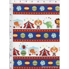 Everyone is excited when the circus comes to town, especially in these bright primary colors! Quilt Cotton Fabric. www.americasbestthreads.com