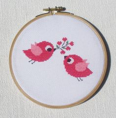 Looking for your next project? You're going to love Cross stitch pattern Birds in love by designer HelenaKovalchuk.