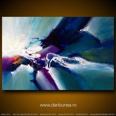Large abstract painting by Dan Bunea: Summer storm door danbunea