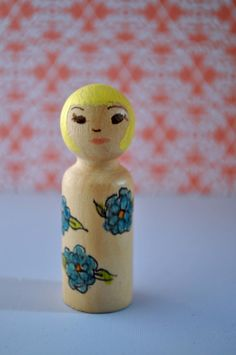 Peg Art Doll-Claire by LauraBrayDesigns on Etsy