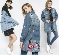 Geci de blugi dama oversize, lungi, brodate sau clasice la moda anul acesta? - http://www.stilulmeu.com/geci-de-blugi-dama-oversize-lungi-sau-brodate-la-moda-anul-acesta/