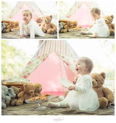 Teddy Bear's Picnic first birthday photo-shoot by Anna Allan Photography in Middlesex and Buckinghamshire, UK.