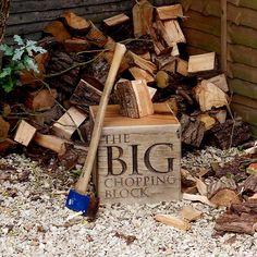 Log And Kindling Chopping Block