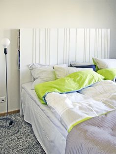 """20 Ways to Use IKEA's RIBBA with MDF for headboard storage, or behind couch as """"console"""" Ribba Picture Ledge, Shelf Behind Couch, Hacks Ikea, Ikea Regal, Deco Cool, Ikea Pictures, Diy Bett, Bookcase Headboard, Headboard Ideas"""