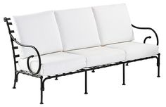SIFAS in-outdoor living furniture : Collection KROSS (canapé 3 places avec coussins d'assise-dossier / 3-seater incl. seat & back cushions)