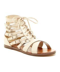 809487ad5ca8 N.Y.L.A. Shoes Bone Empressa Leather Gladiator Sandal - Women