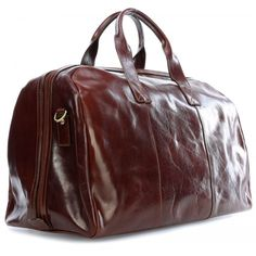 Chiarugi leather luggage bag travel weekender Handmade in Italy