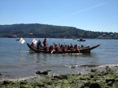 Oil not welcome in the Tsleil-Waututh Nation's ancestral waters. Paddlers performed a ceremony at the third annual Salish Sea Summer Gathering to show that oil, in particular, the twinning of Kinder Morgan's Trans Mountain Pipeline that would subject B.C. waters to an estimated 400 tankers per year, is not welcome in the Tsleil-Waututh Nation's ancestral waters. (pipeline now to come through Burnaby Mtn -  Enbridge bought out Trans Mountain)