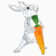 Nature Collection, Clear Crystal, Countryside, Carrots, Swarovski Crystals, Rabbit, Objects, Ornaments, Orange