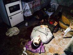 Via Laurent Brayard Victime innocente du Donbass, a succombé à un tir d'artillerie ukrainien, hiver 2014