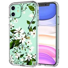 MOSNOVO iPhone 11 Case, Magnolia Floral Flower Pattern Clear Design Transparent Plastic Hard Back Case with TPU Bumper Protective Case Cover for Apple iPhone 11 Girly Phone Cases, Galaxy Phone Cases, Cool Iphone Cases, Diy Phone Case, Iphone Phone Cases, Iphone Case Covers, Iphone 11, Apple Iphone, Fleur Design