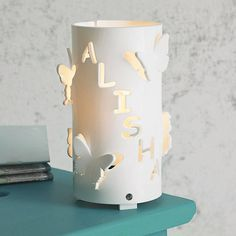 personalised butterfly night light by kirsty shaw | notonthehighstreet.com