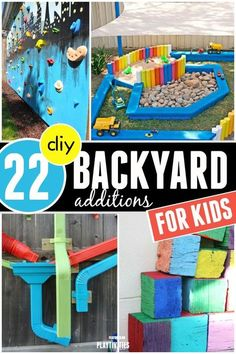 If you want your kids to play outside more consider these backyard ideas for kids. Some are pretty simple to make yet can create a lot fun for your kids
