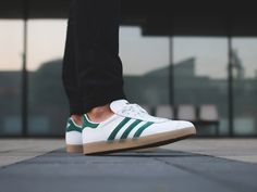 ea0d83b0f42 Adidas Gazelle Leather Vintage White Collegiate Green Men s Trainers - Landau  Store - Product Review - March 24
