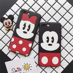 Hot Cartoon cute Minnie Mickey leather Silk Soft case cover for iphone 7 6S plus #UnbrandedGeneric