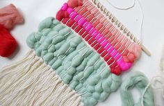Try using wool roving in your next woven wall hanging for a beautifully textured piece. Full tutorial on www.aBeautifulMess
