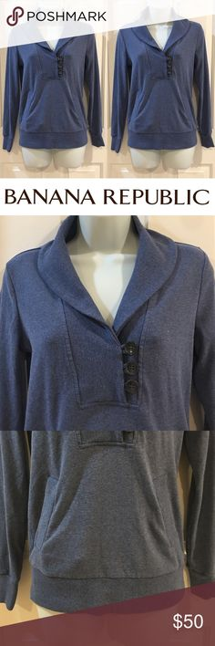   Banana Republic   Adorable Buttoned Sweater In excellent used condition. No holes, stains or pilling. Super stylish for fall and winter and practical at the same time! Made from 57% cotton, 38% polyester, and 5% spandex. Banana Republic Sweaters