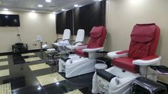 The pedicure and manicure area