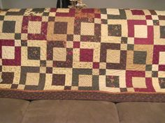 Handmade Large Lap/couch Quilt by TheRetiredQuilt on Etsy, $250.00
