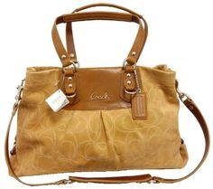 Coach Ashley Stitched Suede Carryall Handbag 15720